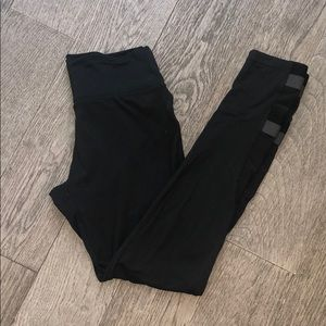 Gymshark Black Ankle Mesh Leggings Size M